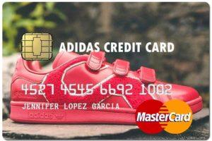 adidas fake credit card