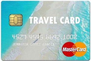 fake travel credit card
