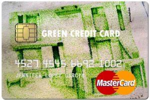 green fake credit card