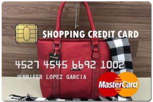 shopping fake credit card