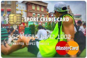 sport fake credit card